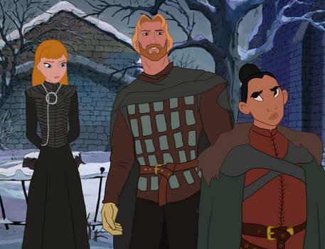 Disney x GoT - Sansa, Jaime and Brienne