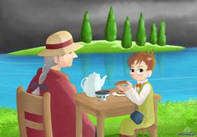 Lake Toast (Ghibli Redraw)