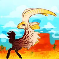 (closed) Desert Goat by The-Monster-Shop