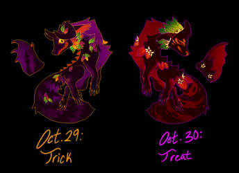 (Closed) Oct. 29, 30: Trickster Pair by The-Monster-Shop