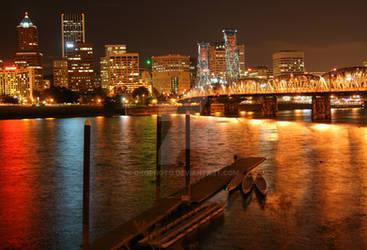 Portland at Night by okophoto