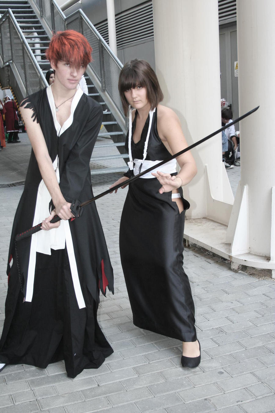 Come on-Ichigo and Soi Fon by equiclubecastello
