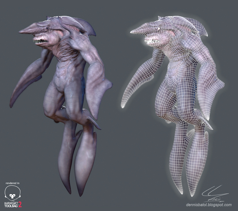Goblin Shark Man by Dencii