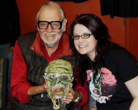George Romero Zombie Head Prop