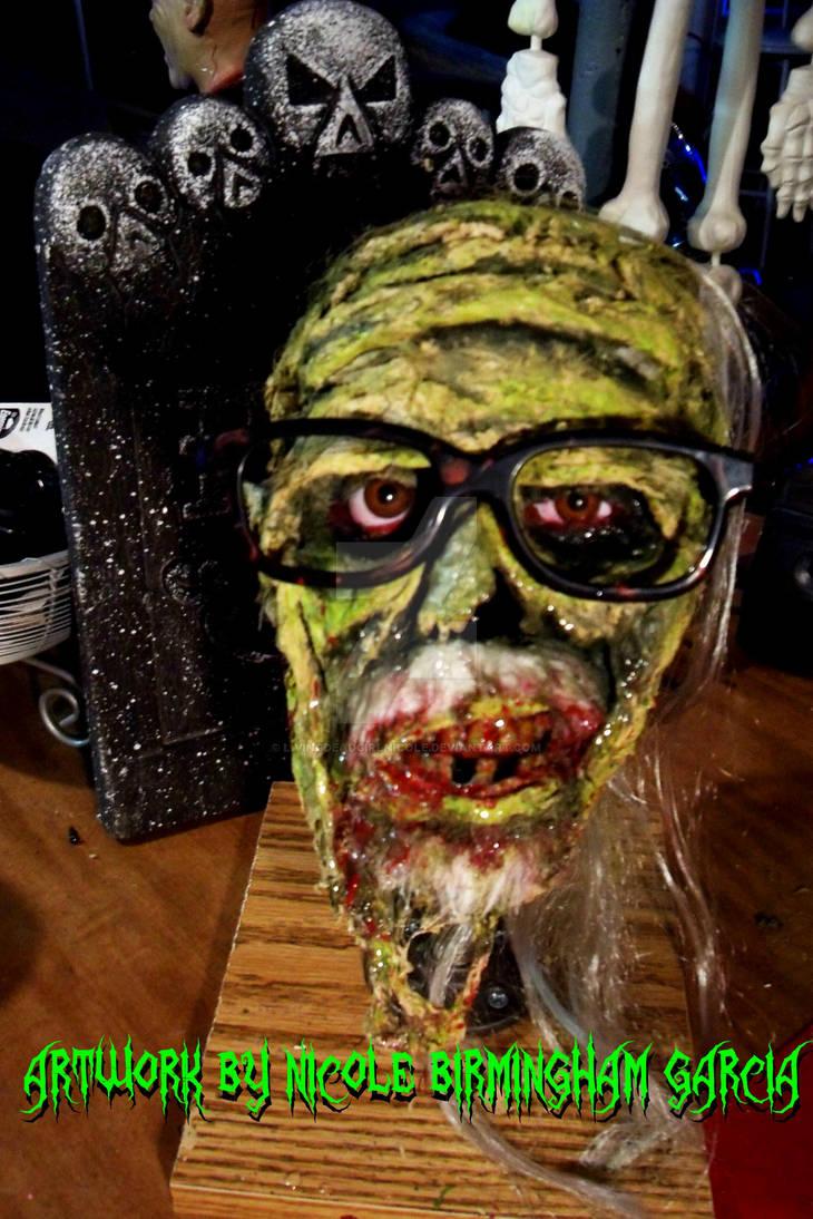 George Zombie Head Close Up
