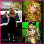 Creepy Doll Makeup and Costume