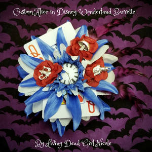 Custom Disney Alice in Wonderland Barrette