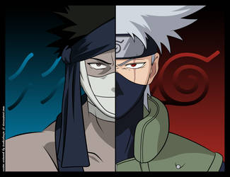 Zabuza vs Kakashi for Robino by tsukishoujo