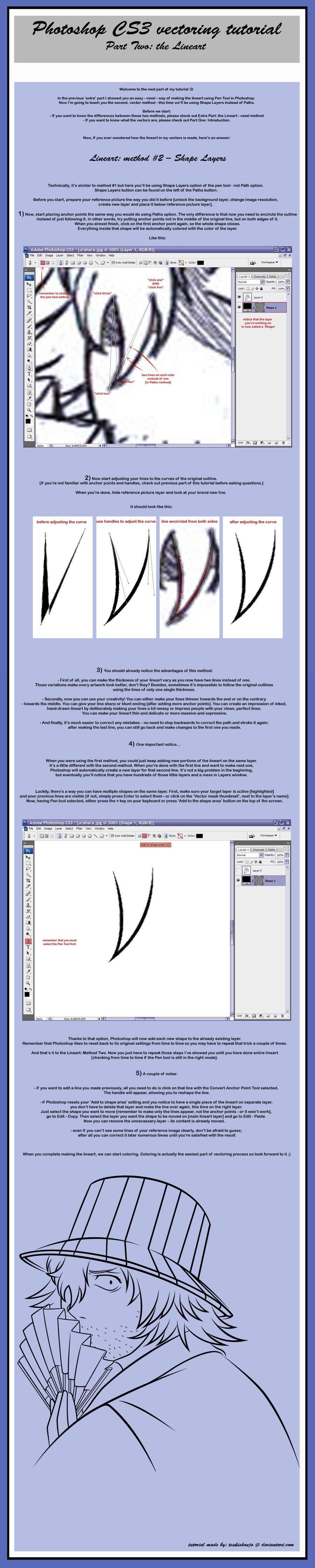 Vector Tutorial - Lineart II by tsukishoujo