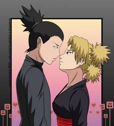 +ShikaTema - Kiss+ by tsukishoujo