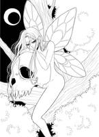 Fairy - lineart by Dar-chan