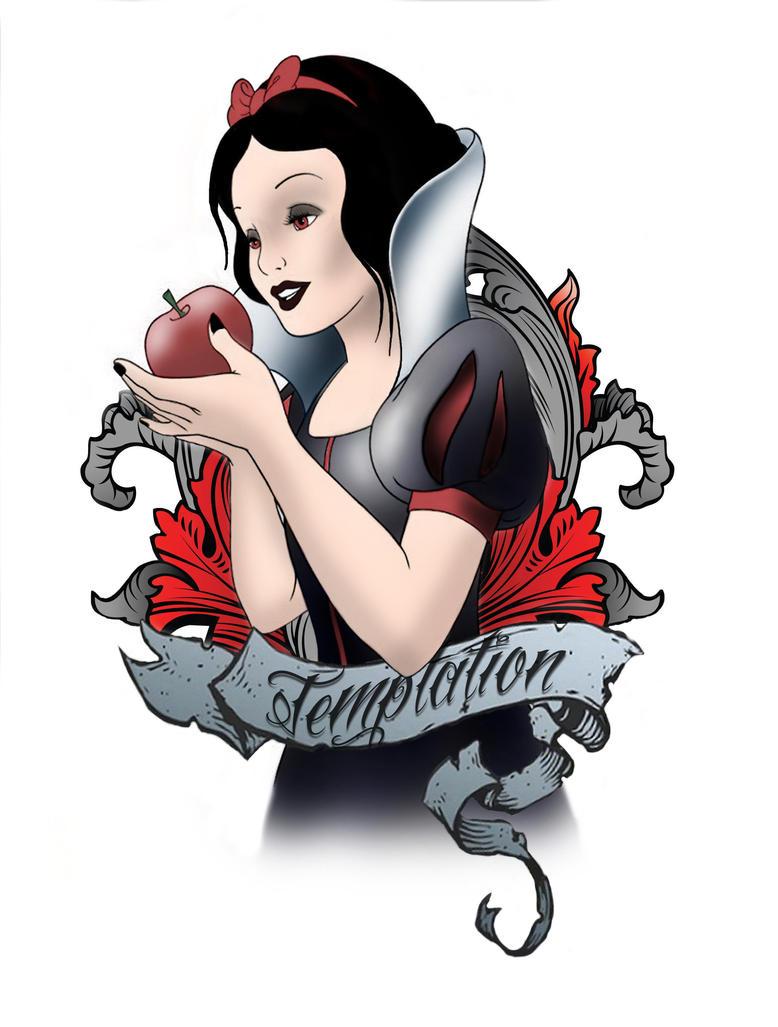 snow white tattoo design by equ1n0x72 on deviantart. Black Bedroom Furniture Sets. Home Design Ideas