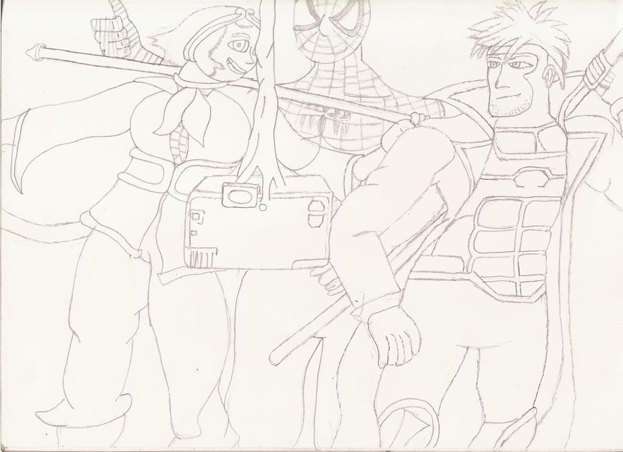 My team in Marvel vs Capcom 2 by Gale-Kun