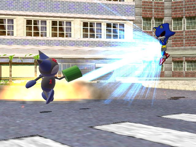 Mikun vs Metal Sonic 2 by Gale-Kun