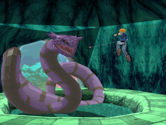 Mike Jones vs Giant Snake by Gale-Kun