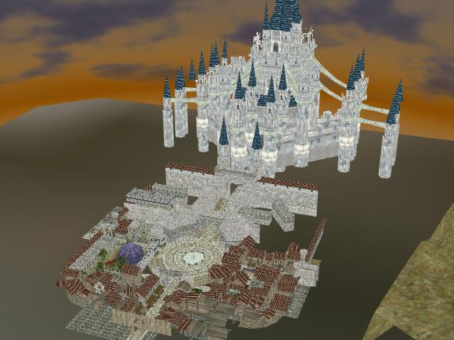 Hyrule Castle Town by Gale-Kun