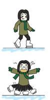 Severus and Lily Ice Skating