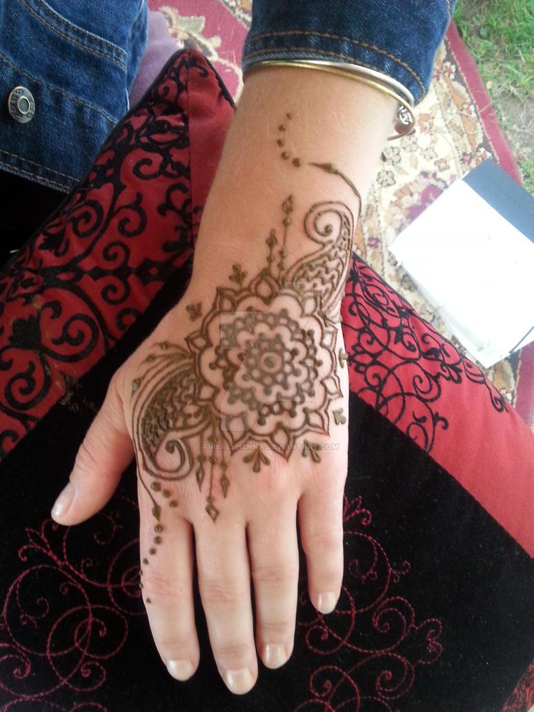 Firefly Henna Mandala Flower Hand By Fireflyhenna On Deviantart