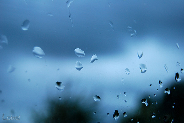 Blue Rain Drops by Lpixel