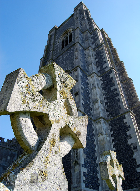 Lavenham church tower 1 by Lpixel