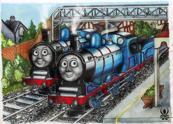 Donald and Douglas by SenatorTrainFreak
