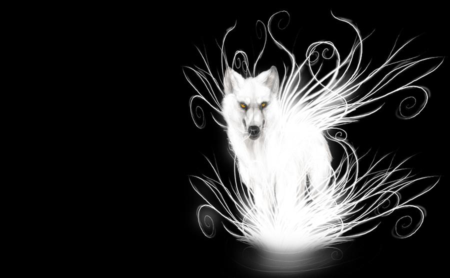 wolf wallpaper. Glowing Wolf - wallpaper by