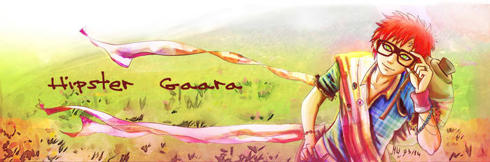 Request: Hipster Gaara spring themed banner ^,^ by HolyXell