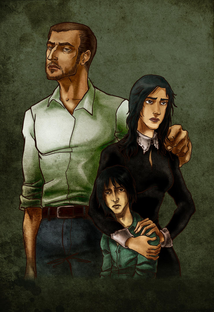 Snape's family by MadTwinsArt