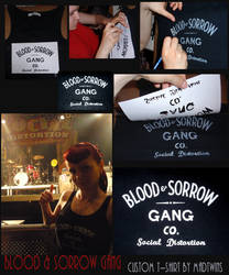 Blood and Sorrow Gang SD tee by MadTwinsArt