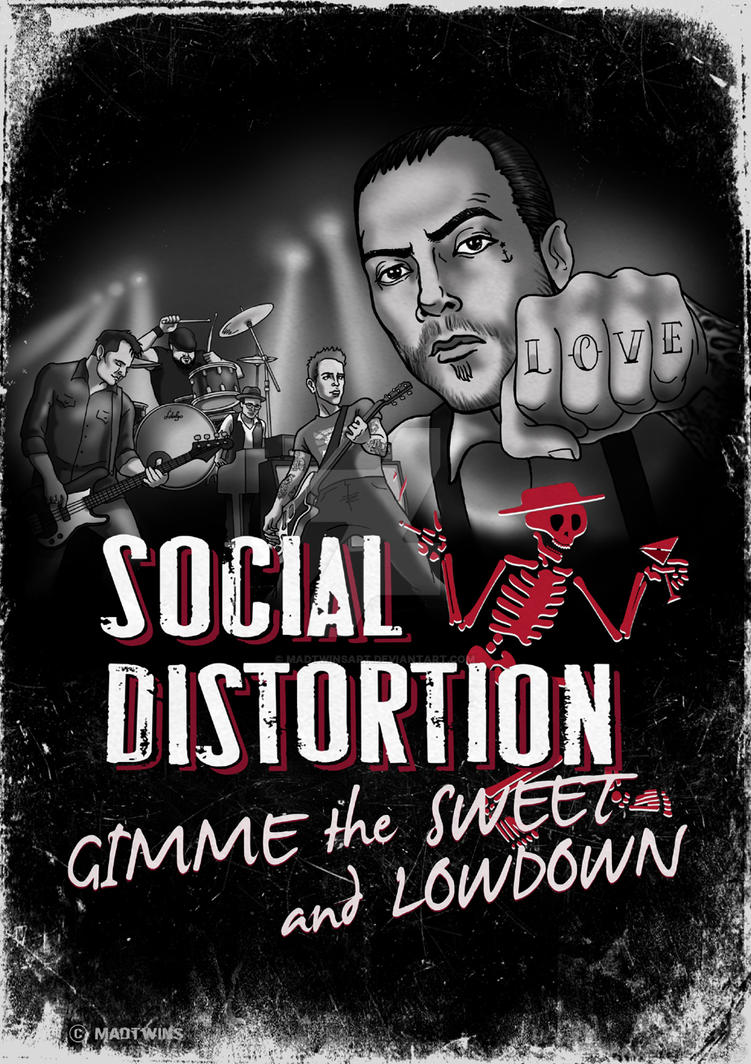 Social D - Gimme the Sweet and Lowdown poster by MadTwinsArt