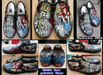 Slavery and Freedom painted Vans by MadTwinsArt