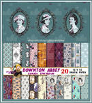 Downton Abbey Scrapbooking paper by MadTwinsArt