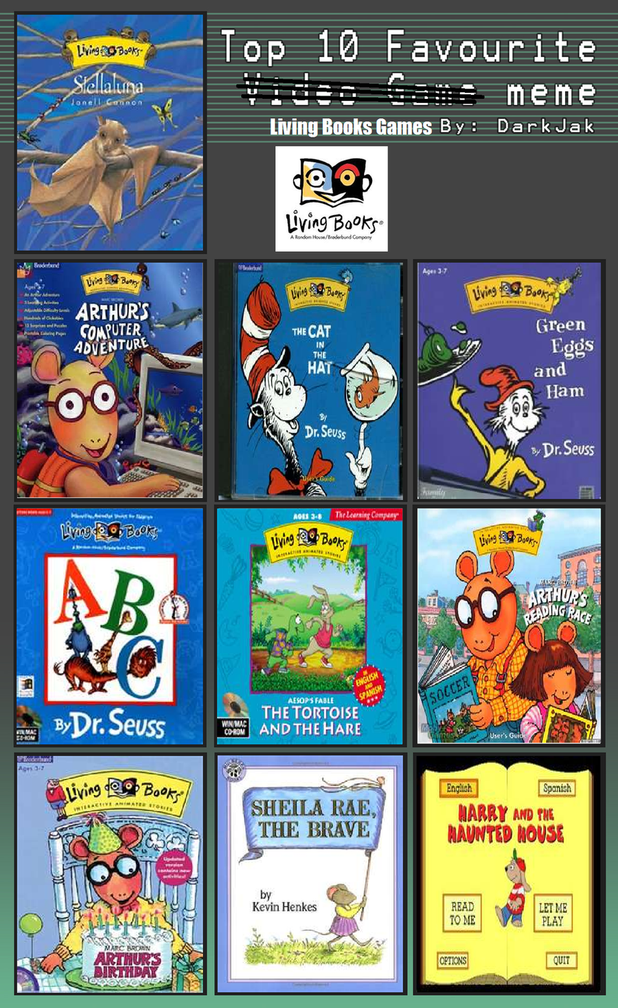 my top 10 favorite Living Books games by skullzproductions on ...
