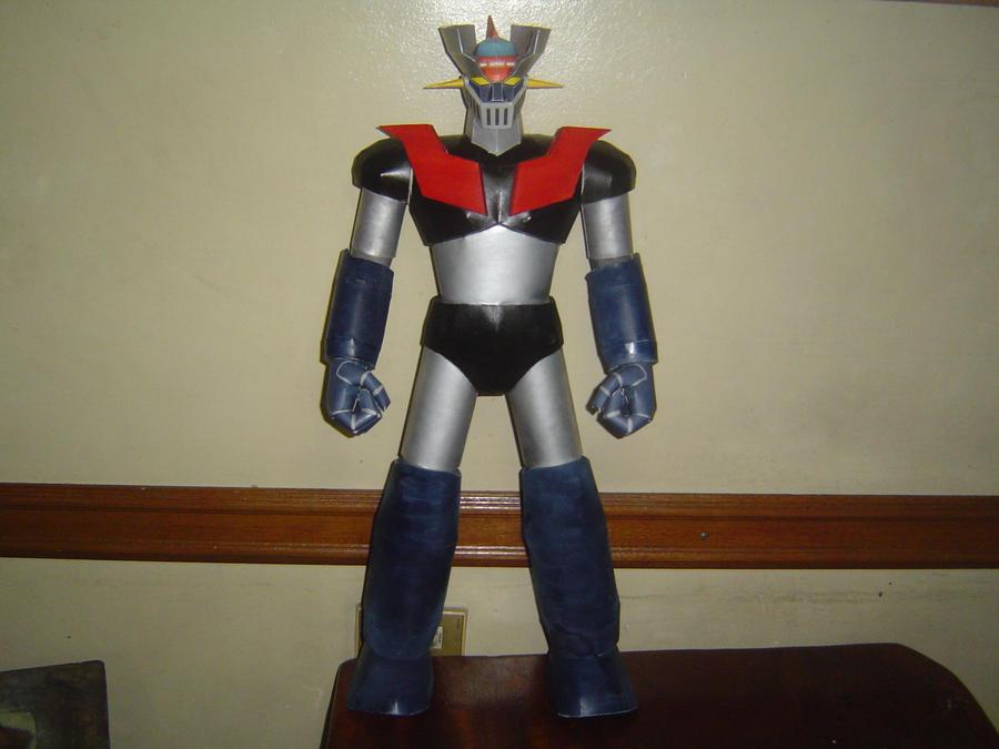 Mazinger z free robot paper model download.