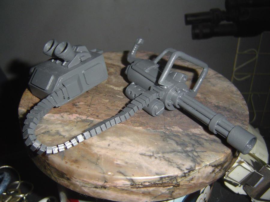 scratch built gatling gun for gundam ez