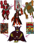 Hexafusion Hellboy Etrigan the demon and Spawn