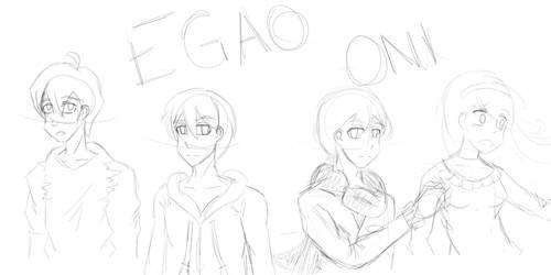 Egao Oni Fanart Thing by kirbybabbo