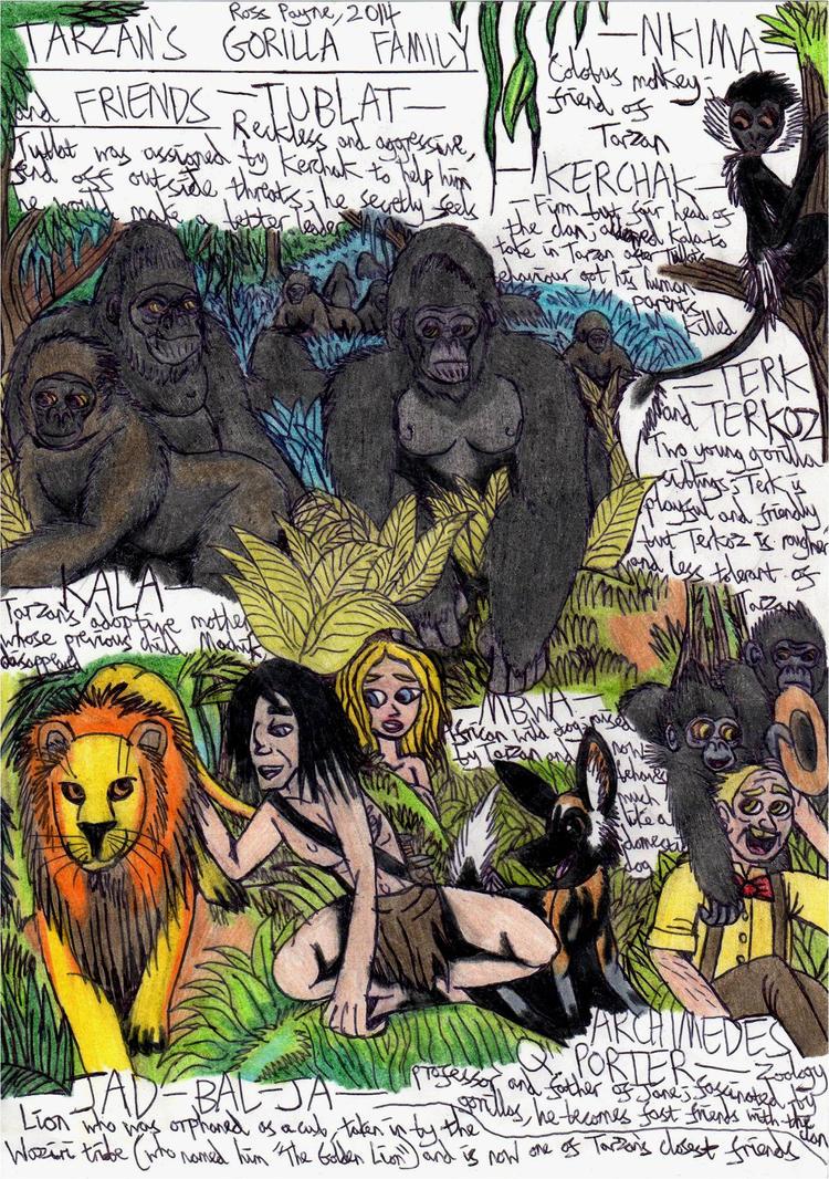 Tarzan 39 s gorilla family and friends by khialat on deviantart - Tarzan gorille ...