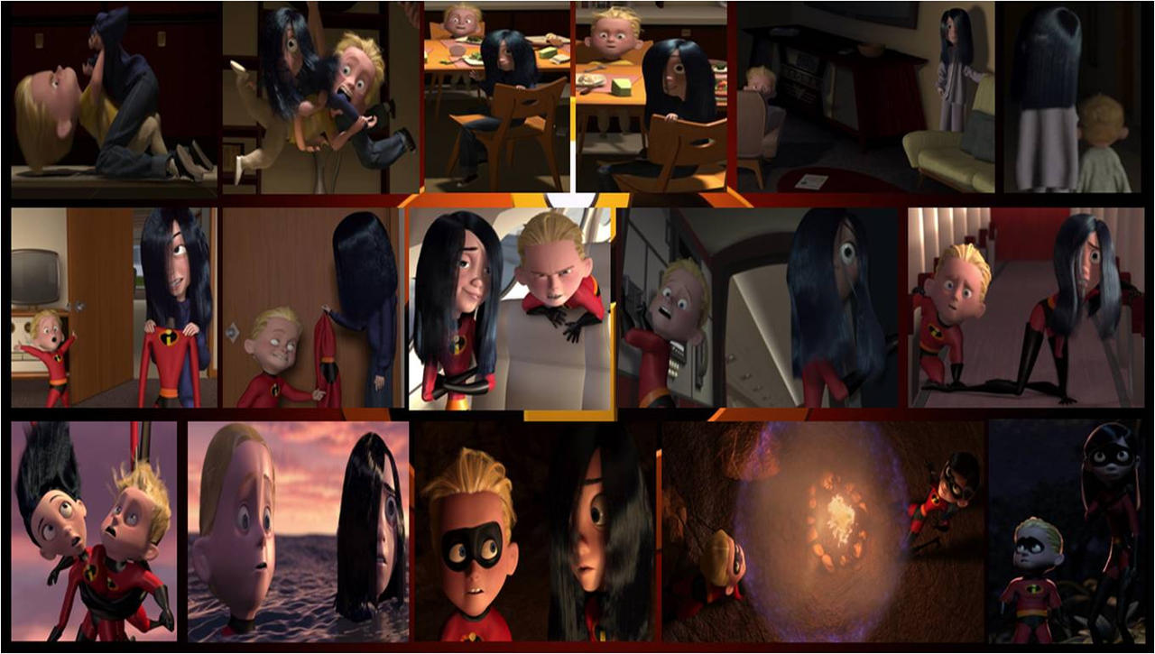 incredibles violet and dash collage 1 by khialat on