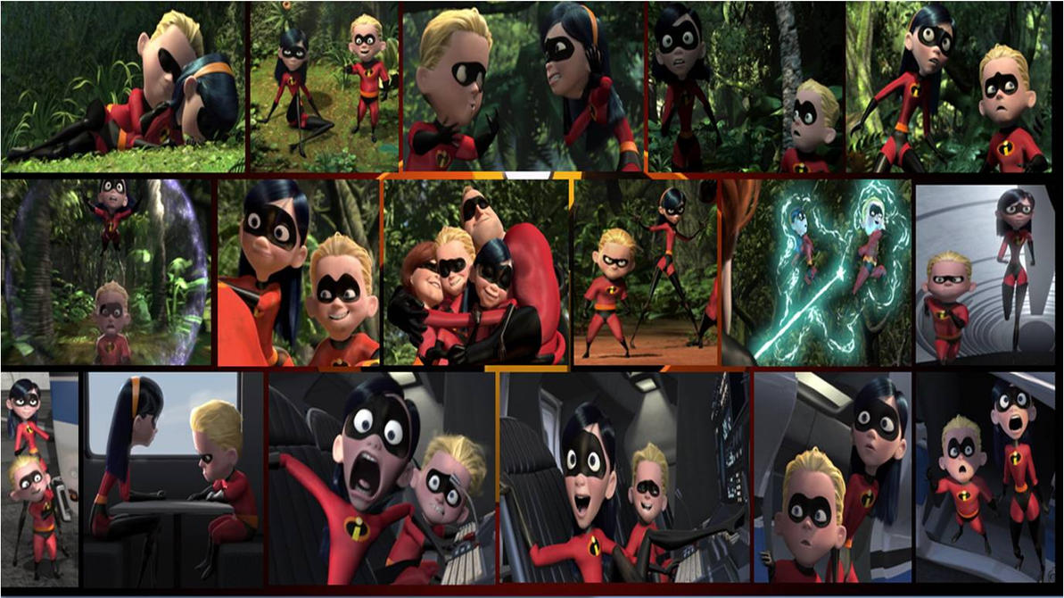 incredibles violet and dash collage 2 by khialat on