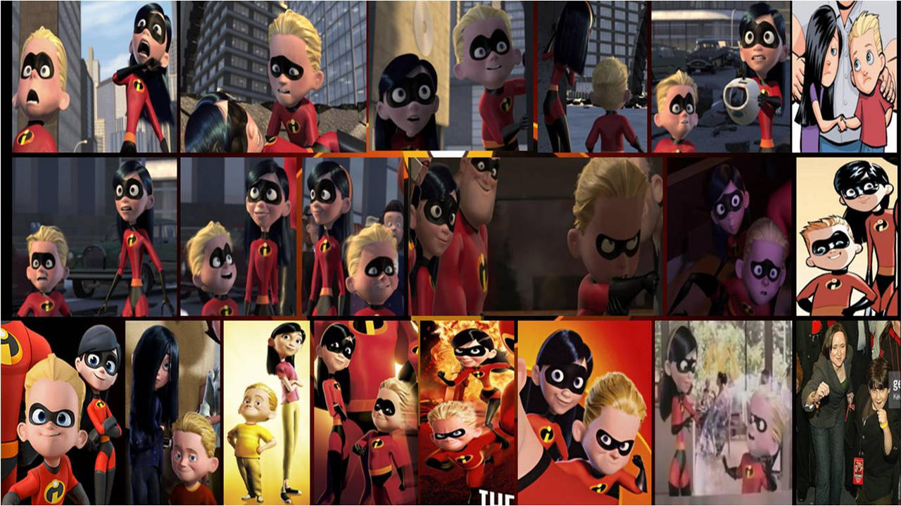 incredibles violet and dash collage 3 by khialat on