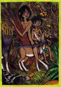 Jungle Book - Messua in the Jungle