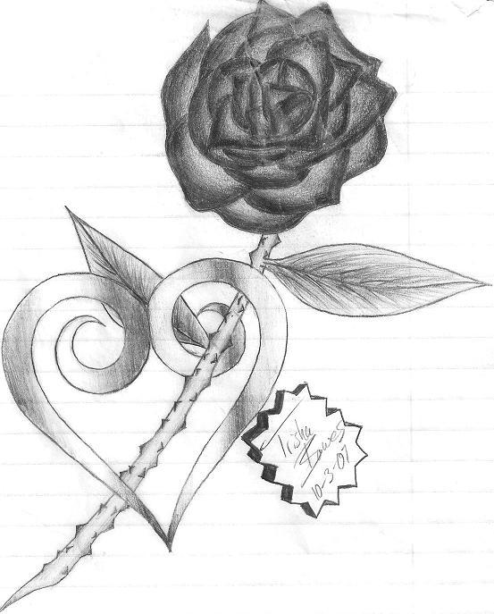 Hearts And Roses And Stars Drawings Kingdom hearts rose by