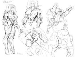Ultra Vixen sketches Jed by MaelstromMediaComics