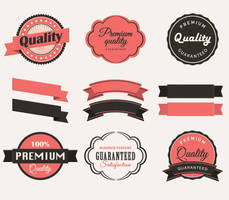Vintage Labels Collection Vector Graphic by Designslots