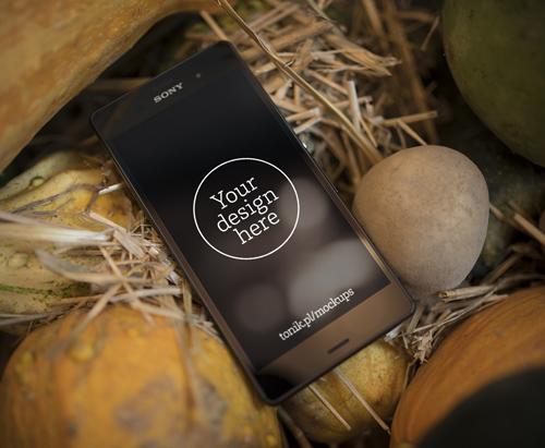 Sony Xperia Z3 Mockup by Designslots