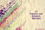 Free 12 Strings And Bubbles Brushes