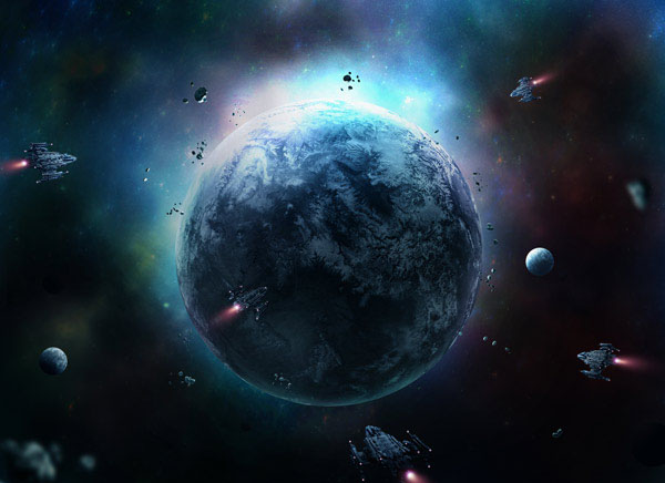 Sci-Fi Outer Space Scene With Adobe Photoshop