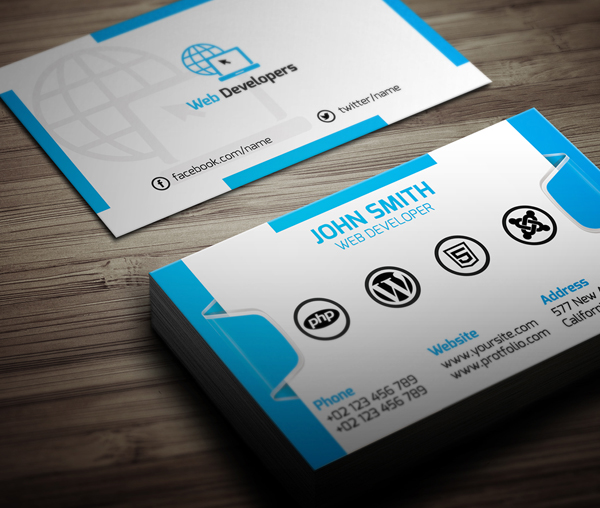 Free web developer business card psd template by designslots on free web developer business card psd template by designslots flashek Gallery