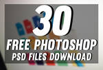 30 New Photoshop Free PSD Templates Download